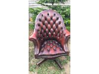 Lovely ox blood red leather directors chair