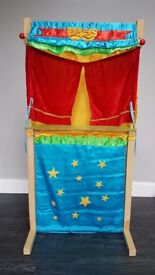 Hand Puppet Theatre and Shop with Puppets
