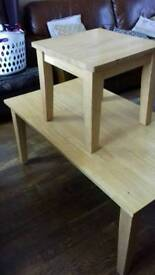 Coffee table and matching small table