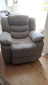 Electric reclining chair. 6 months old selling because moving overseas.