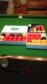 Snooker and pool balls