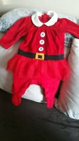 Next baby Christmas sleepsuit