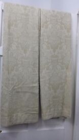 """Alexandria jacquard fully lined curtains 46""""x 90 """" brand new never been used."""