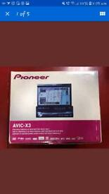 pioneer Avic-x3 touch screen car stereo mp3 bluetooth sat nav