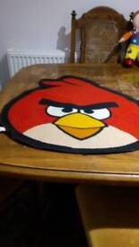 Angry birds bed side rug