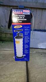 Sealey vacuum manual oil and fluid extractor