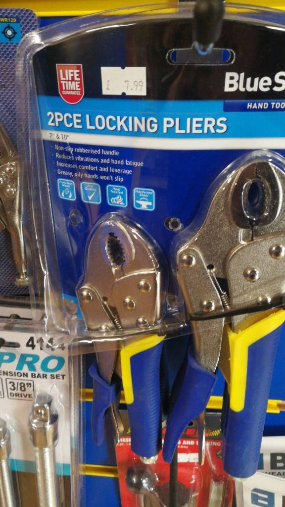 2pc locking pliers set