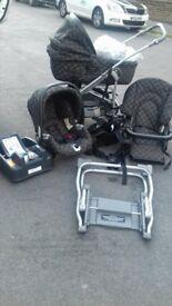 mint condition mamma and papa primo viaggio full pram and accessories