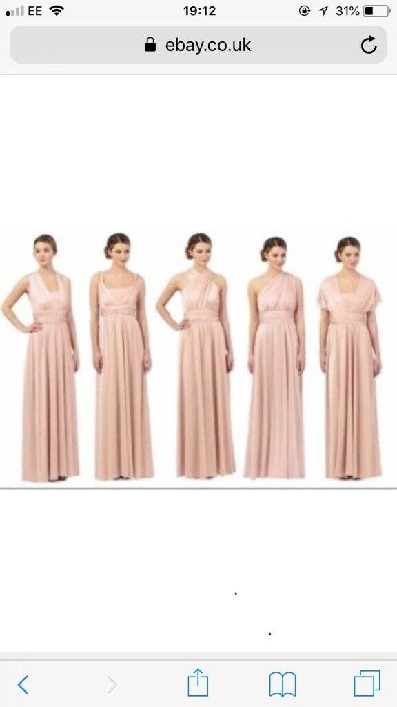Pale pink multiway dress size 8