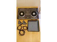 DJ Equipment - Mixtrack Pro, Novation Dicers, Novation Launchpad
