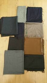 Material various colours and sizes