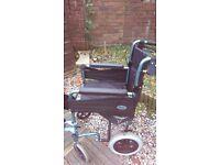 Wheelchair. metallic aqua blue ,As new.