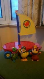 Wonderpets Flyboat and Characters