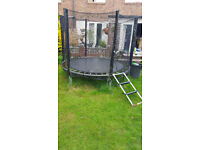 8ft trampoline with enclosure and ladders SUMMER HOLIDAY FUN
