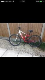 Mens 18 gear mountain bike