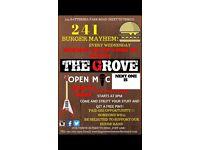 Open Mic & 2-4-1 Burger night!