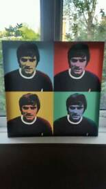 George Best pop art style screen print