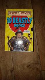 Horrible histories book set