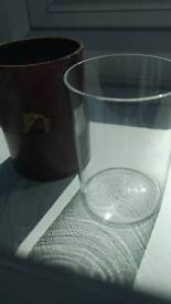 Small Toddie glass and protective sleeve