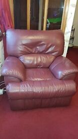 3 Piece Reclining Leather Suite **Reduced**