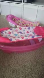 Bath seat and baby bath