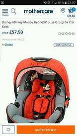 DISNEY MICKEY MOUSE CAR SEAT