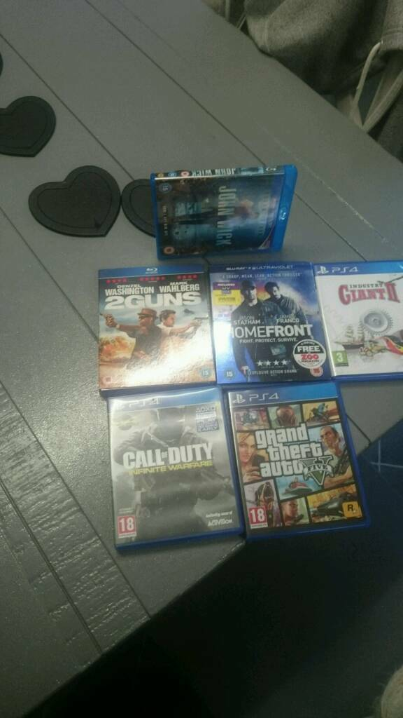 Ps4 games + Blue Ray films