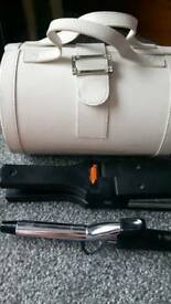 HAIR STRAIGHTENERS AND CURLING TONG JEWELLERY BOX AND NECKLACES