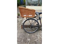 Wicker Dog Cycle Carrier