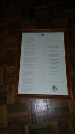 Framed Gleneagles Commemorative Address to a Haggis