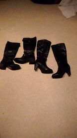 X2 ladies boots size 7/40 1 new 1 worn once bargain!!