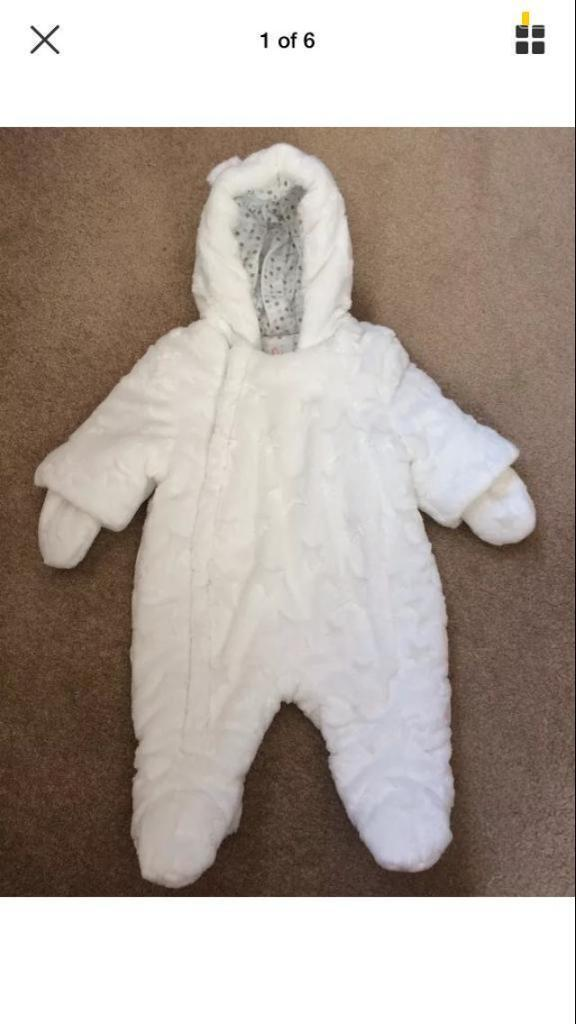 67e1a44aca51 Baby girl or boy unisex snow suit Pram suit all in one