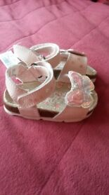 Girls next pink sandals infant size 3 bnwt!
