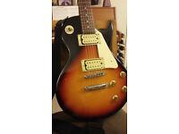 Encore Les Paul electric guitar and amplifier