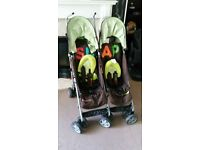 twin or double stroller/ pushchair