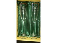 Claddagh champagne flutes brand new