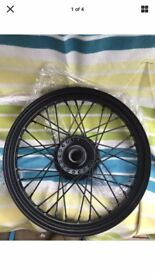 TRIUMPH BONNEVILLE T100 BLACK FRONT WHEEL