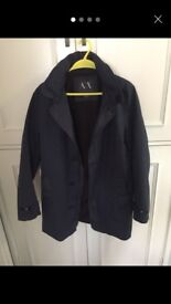 Men's armani trench style coat small