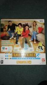Family trainer with mat for wii
