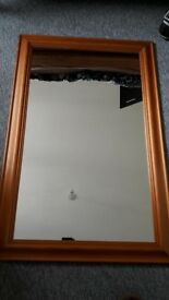 mirror, wood frame, big mirror