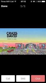 1 aintree Craig David ticket for sale