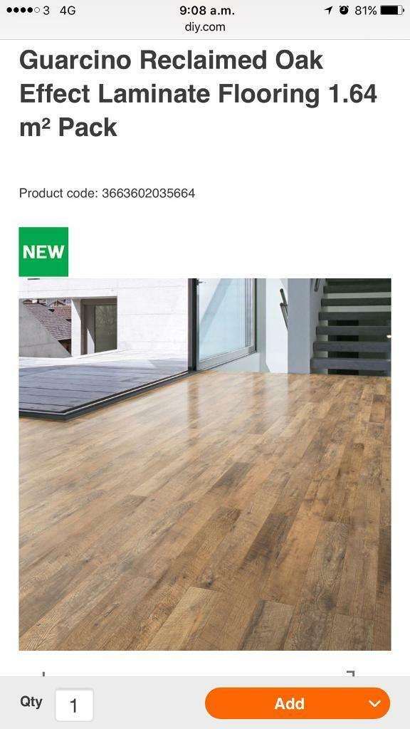 17 Packs Of Guarcino Reclaimed Oak Effect Laminate Flooring