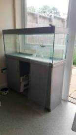 200 litre fish tank and cabinet