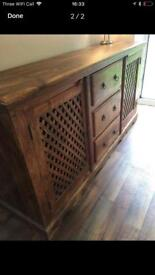 Stunning side unit Solid Wood- *Very Very Heavy*