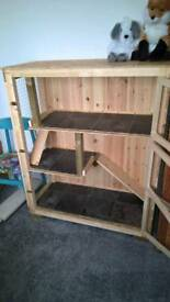 Handmade indoor ferret/chinchilla/rat/rodent cage