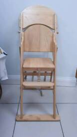 John lewis wooden high chair