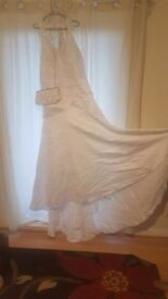 Wedding Dress with bag size 16/18