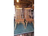 4 x Ercol dining chairs 1960s