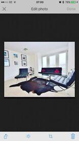 Black Barcelona Sofa and 2 Chairs