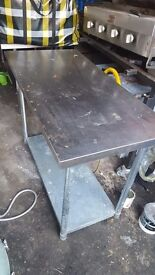 Steel worktop for restaurants/catering (Two available)